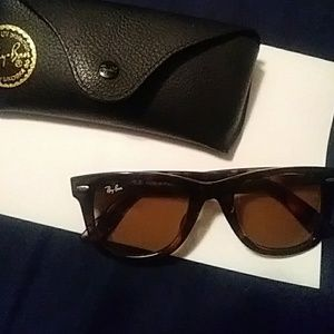 RAY BAN designer women's sunglasses animal print